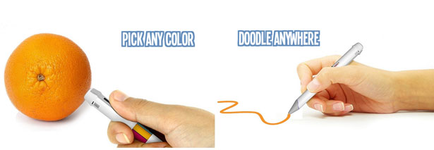 multicolor pen that pic the color from sense